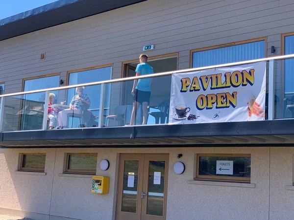 New pavilion at marine park, Lossiemouth